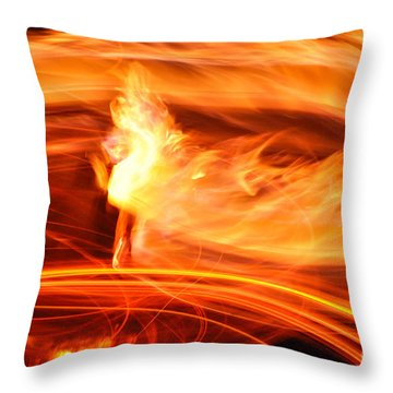 Playing With Fire 14 Throw Pillow
