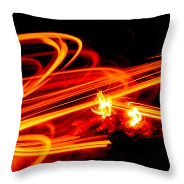 Playing With Fire 4 Throw Pillow