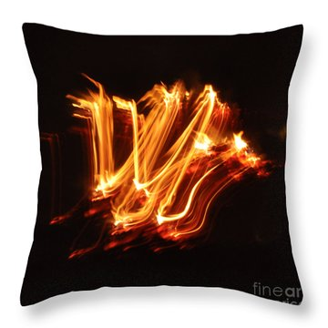 Playing With Fire 6 Throw Pillow by Cheryl McClure