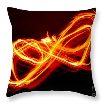 Playing With Fire 8 Throw Pillow by Cheryl McClure