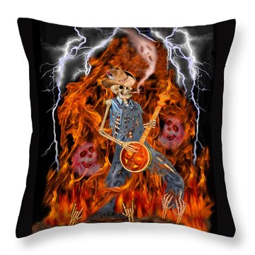 Playing With Fire Throw Pillow by Glenn Holbrook