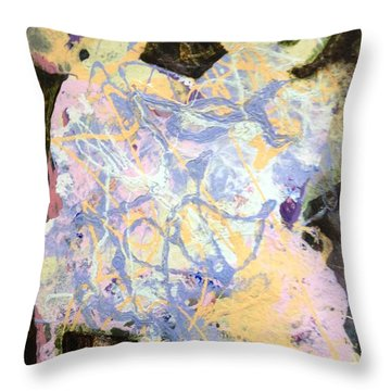 Playing With Grandma Throw Pillow by Marilyn Jacobson