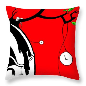 Playing With Time Throw Pillow