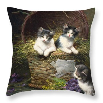 Playtime Throw Pillow by Leon Charles Huber