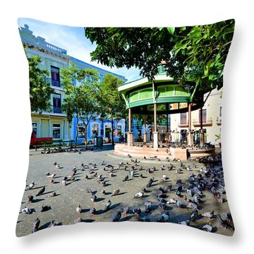 Plaza De Armas Throw Pillow
