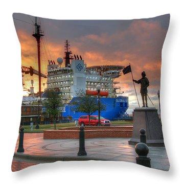 Plaza De Luna Throw Pillow