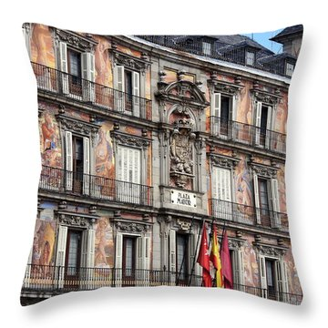 Plaza Mayor Throw Pillow