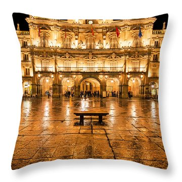 Plaza Mayor In Salamanca Throw Pillow