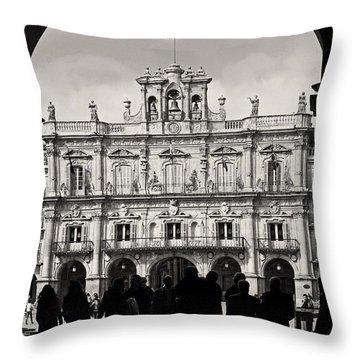 Plaza Mayor Salamanca Throw Pillow