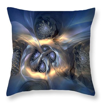 Throw Pillow featuring the digital art Pleasant Effusion by Casey Kotas