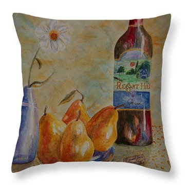 Pleasant Hill Winery Throw Pillow