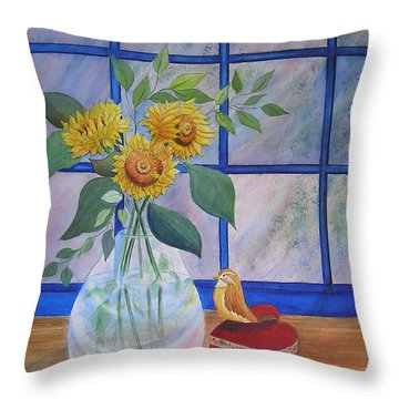 Pleasant Surprise Throw Pillow by Laura Nance