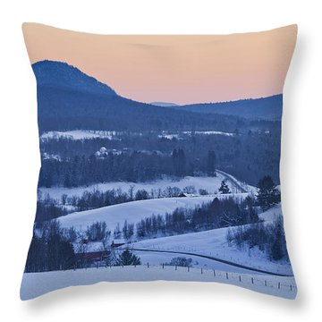 Pleasant Valley Winter Twilight Throw Pillow