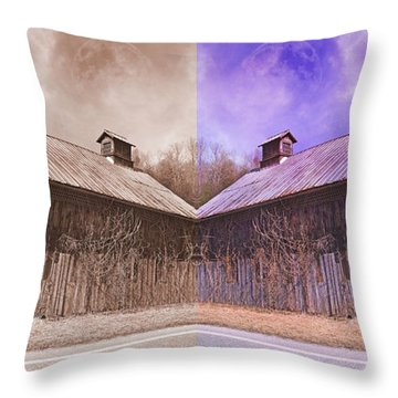 Pleasant View Country Barns Throw Pillow by Betsy Knapp