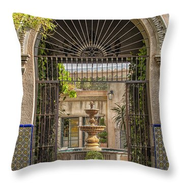 Please Come In Throw Pillow by Sandra Bronstein