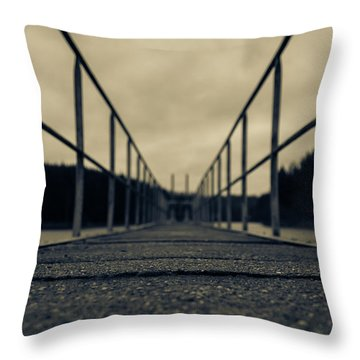 Please Do Not Stumble Throw Pillow by Andreas Levi