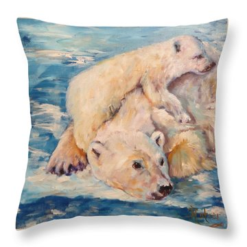 You Need Another Nap, Polar Bears Throw Pillow