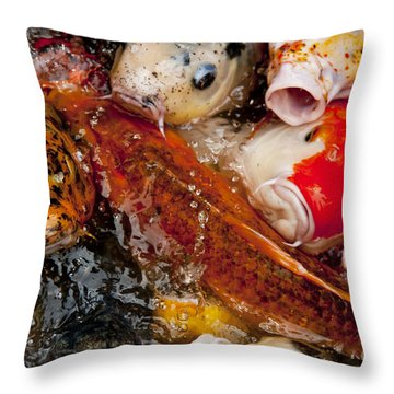 Please Feed Us  Throw Pillow by Wilma  Birdwell