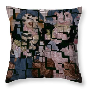 Throw Pillow featuring the photograph Please Lets Put Back The Pieces by Joyce Gebauer