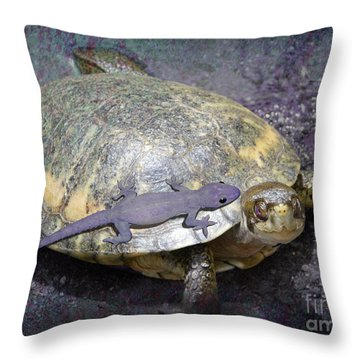 Please Share The Journey Throw Pillow by Audra D Lemke