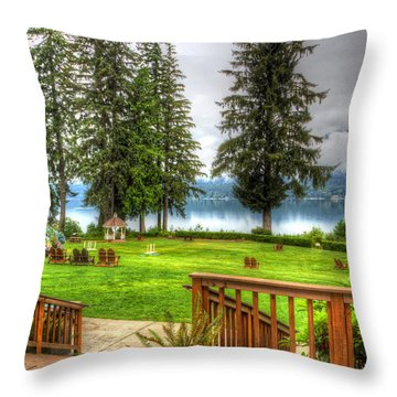 Please Take Me Back Throw Pillow by Heidi Smith