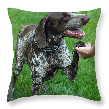 Pleased To Meet You Throw Pillow by Lisa Phillips