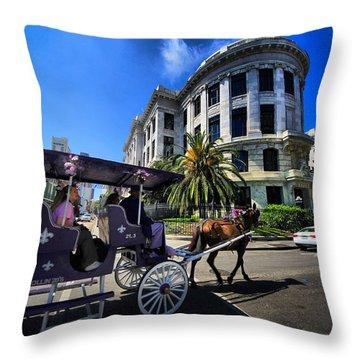 Pleasure Cruise Throw Pillow by Robert McCubbin
