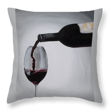 Pleasure In A Glass Throw Pillow by Melissa Torres