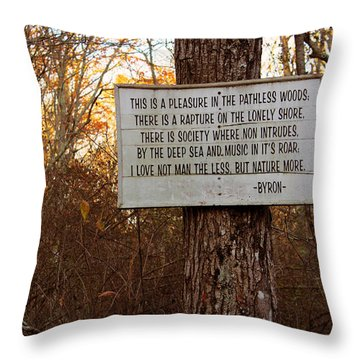 Pleasure In The Pathless Woods Throw Pillow