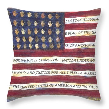 Pledge Flag Throw Pillow