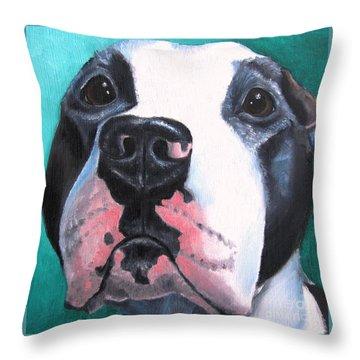 Pleeeaaasssseee? Throw Pillow by Debbie Finley