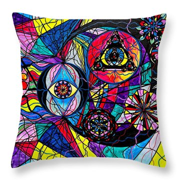 Pleiades Throw Pillow by Teal Eye  Print Store