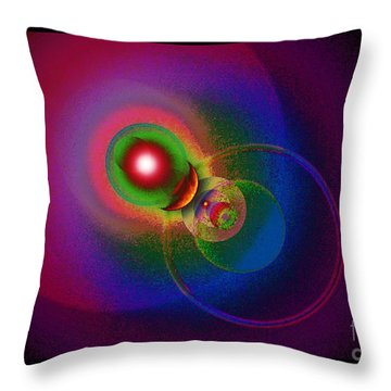 Pleiadian Pathways Throw Pillow by Susanne Still