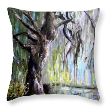 Plein Air At Fort Dent Park Throw Pillow