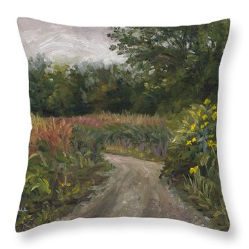 Plein Air - Corn Field Throw Pillow