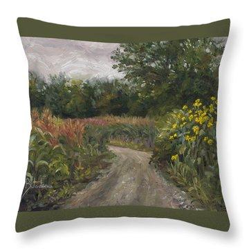 Plein Air - Corn Field Throw Pillow