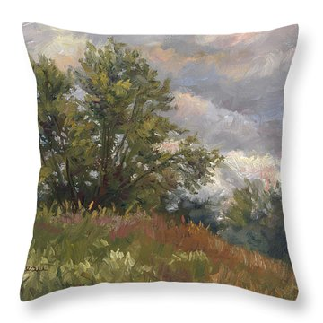 Plein Air - Near The Chicopee River Throw Pillow
