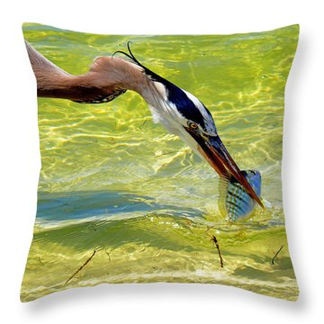 Plucked From The Sea Throw Pillow