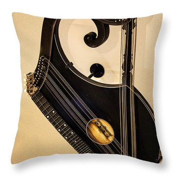 Plucked Vienna Zither Throw Pillow