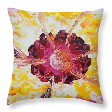 Plucking A Seven-petal Flower Throw Pillow