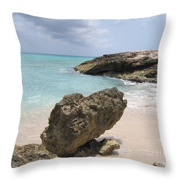 Plum Bay - St. Martin Throw Pillow