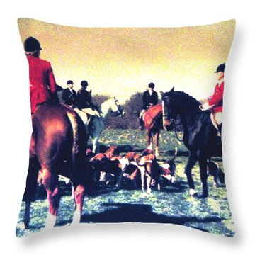 Plum Run Hunt Opening Day Throw Pillow
