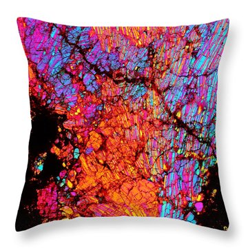 Plume Of Color Throw Pillow