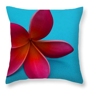 Plumeria Throw Pillow by Julia Ivanovna Willhite