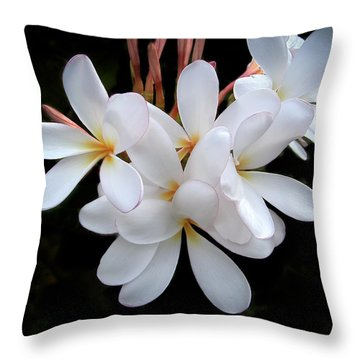 Plumeria Throw Pillow