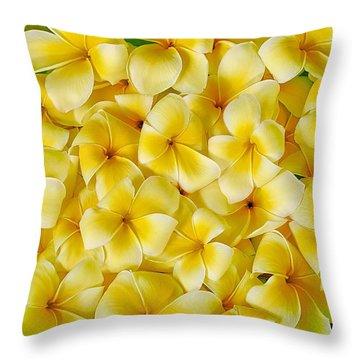 Plumerias In Bowl Throw Pillow