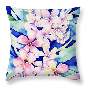 Plumerias Of Maui Throw Pillow