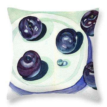 Plums Throw Pillow