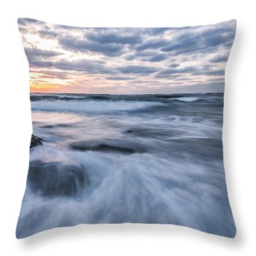 Plunge Into The Blue Throw Pillow