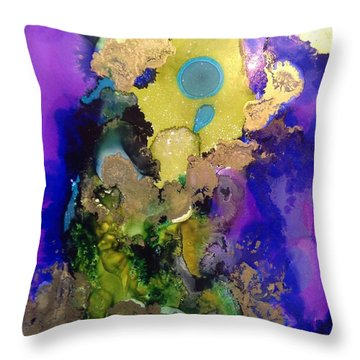 Pluto Dance Throw Pillow by Tara Moorman